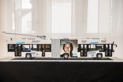 Der Legobus hat eine Länge von 130 Zentimetern. (Bild: Nadia Schärli, Küssnacht, 7. März 2019)