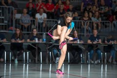 Impressionen von der Schweizermeisterschaft im Rope Skipping in der Krienser Krauerhalle. (Bild: Dominik Wunderli, Kriens, 30. März 2019)