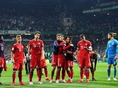 Für die Bayern war es am Schluss ein hartes Stück Arbeit (Bild: KEYSTONE/EPA/DAVID HECKER)