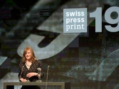 Camille Krafft, Gewinnerin des Swiss Press Awards in der Kategorie Print. (Bild: KEYSTONE/ALESSANDRO DELLA VALLE)