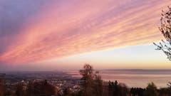 Sonnenaufgang in Rorschacherberg am frühen Ostersonntag. (Bild: Julia Buob)