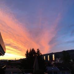 Morgenstimmung über Rorschacherberg. (Bild: Daniel Rüegg)