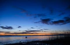 Blaue Stunde in Uttwil. (Bild: Dani Rüede)