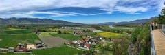 Blick ins Unterrheintal vom Montlinger Bergli aus. (Bild: Toni Sieber)