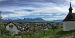 Blick in den Rätikon vom Montlinger Bergli aus. (Bild: Toni Sieber)