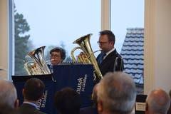 Mit Trompeten und Posaunen wurde die neue Polizeistation feierlich eingeweiht.