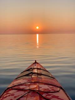 Kajak auf dem Bodensee. (Bild: Reto Schubnell)