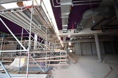 1. Obergeschoss. Rolltreppenbereich mit Oberlicht.