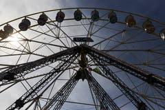 Das Riesenrad ist aus dem Lunapark nicht mehr wegzudenken. (Bild: Jakob Ineichen, Luzern, 27. April 2019)