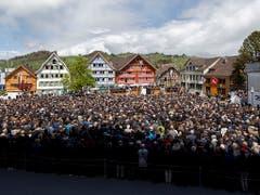 Impressionen von der Landsgemeinde vom Sonntag in Appenzell. (KEYSTONE/Christian Merz).. (Bild: Keystone/CHRISTIAN MERZ)
