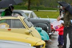 Ausgestellte Oldtimer am ACS Auto-Rennten in Frauenfeld. (Bild: Donato Caspari)