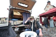Beim Ape-Treffen in Bischofszell waren auch Wohnwagen zu bewundern. (Bild: Donato Caspari)