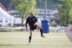 Touch-Rugby beim Training auf der Allmend. Im Bild: Aufwärmen. (Bild: Manuela Jans-Koch, Luzern, 25. April 2019)