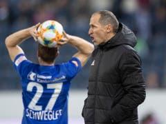 Schweglers weite Einwürfe, Häberlis präzise Anweisungen - aktuelle Trümpfe des FC Luzern (Bild: KEYSTONE/URS FLUEELER)