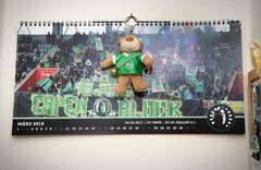 Ein offizieller Fankalender aus dem Espenblock. (Bild: Ralph Ribi)