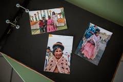 Die peruanische Familie: Fotos von Benis leiblicher Mutter und den Halbgeschwistern.