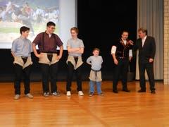 Verleihung des Präventionspreis vom Kanton Luzern 2013 – Delegation vom Schwingklub Rothenburg. (Bild: Schwingklub Rothenburg)
