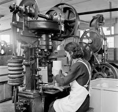 Bild eines unbekannten Industrie-Betriebs im Jahr 1942. (Bild: Karl Manz/Aura)