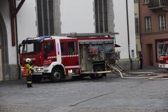 Die Feuerwehr war mit einem Grossaufgebot vor Ort. (Bild: Jakob Ineichen, 2. Mai 2018)