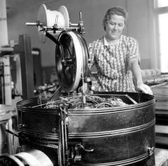 Textilindustrie 1938. (Bild: Karl Manz/Aura)