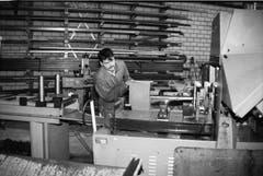 Der mechanische Betrieb Albrecht Wüthrich im Jahr 1997 in Wolhusen. (Bild: Heiri Dahinden/ Wolhuser Forum)