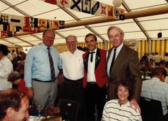 Erwin Muff (Luzerner Regierungsrat), Alfred N. Becker (Luga-Gründer), Werner Fluder (Leiter Sonderschauen und Tierausstellungen) und Bruno Haab (Präsident von 1978 bis 2000). (Bild: zvg)