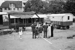 Zirkus Nock in Solothurn, 1961. (Bild: ETH-Bibliothek Zürich/ Bruderer)