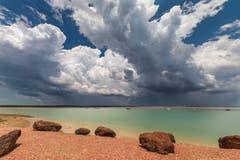 Gewaltige Gewitterwolken in Darwin.