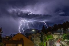Blitze über Luzern.