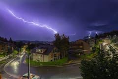 Für Stormchaser ein Glücksfall: Gewitter über Luzern.