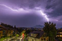 Gewitterabend in Luzern.