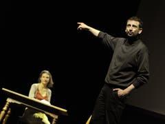 Projekt «Zeitsprung» im Theater Uri mit Rolf Sommer und Ivana Martinovic. (Bild: Urs Hanhart, Altdorf, 10. Mai 2019)