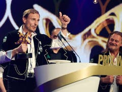 In der Kategorie der volkstümlichen Musik gewann der Männerchor «Heimweh». (Bild: KEYSTONE/WALTER BIERI)
