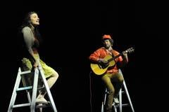 Projekt «Zeitsprung» im Theater Uri mit Ivana Martinovic und Mario Schelbert. (Bild: Urs Hanhart, Altdorf, 10. Mai 2019)