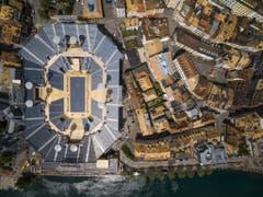 Wir sind weder in Nîmes noch in Verona oder Arles. Ici c'est Vevey! (Bild: Keystone/VALENTIN FLAURAUD)