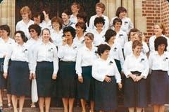 Der Frauenchor Buchs in den 1980er-Jahren.