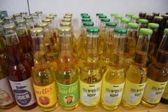 Nebst Bier findet sich auch Apfelwein im Sortiment.