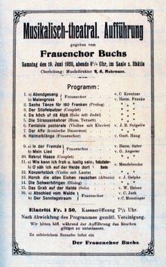 Musikalisch-theatralische Aufführung im Jahr 1920.