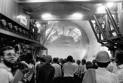 Der Durchbruch im Rosenbergtunnel.