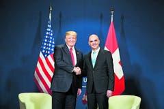 Von einem Gespräch «zwischen zwei Männern auf Augenhöhe» sprach dafür Alain Berset nach dem Treffen mit Donald Trump am letztjährigen Weltwirtschaftsforum in Davos. Der US-Präsident sei «sehr direkt, sehr konkret, sehr respektvoll», konstatierte der SP-Bundesrat im Anschluss.