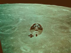 Am 18. Mai 1969 startete Apollo 10 zum Mond und erreichte am 21. Mai den Mondorbit. Dort führte die Crew alle Manöver aus, die auch für Apollo 11 geplant waren - bis auf die eigentliche Landung. (Bild: KEYSTONE/AP NY/NASA)