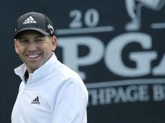 Vom Spanier Sergio Garcia erwarten in dieser Woche den zweiten Majorturnier-Sieg der Karriere (Bild: KEYSTONE/EPA/PETER FOLEY)