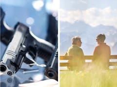 Die Schweiz stimmt ab. Die Themen: EU-Waffenrecht und AHV-Steuer-Deal. (Bild: KEY)