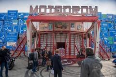 Das Motodrom hat einen Durchmesser von 16 Metern und ein Gewicht von etwa 25 Tonnen.