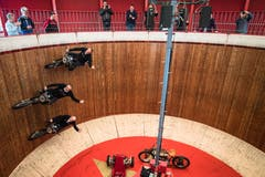 Clemens Schöne, Donald Ganslmeier und Peter Petersen zu dritt im Motodrom. (Bild: Boris Bürgisser, Luzern, 17. Mai 2019)