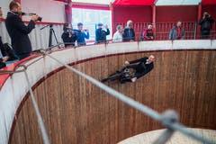 Donald Ganslmeier fährt ohne Helm: «Das sieht nicht so toll aus». (Bild: Boris Bürgisser, Luzern, 17. Mai 2019)