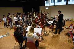 Kinder proben für das Musical. (Bild: PD)