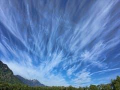 Föhnwolken in Nüziders. (Bild: Toni Sieber)