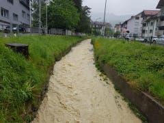 Der Stadtbach in Altstätten. (Bild: FM1Today, Noémie Bont)