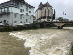 Der Dauerregen hat auch in Appenzell Folgen. (Bild: FM1Today, Marc Hanimann)